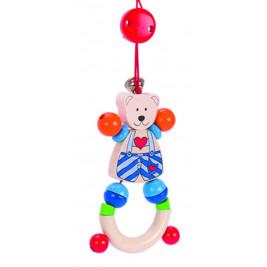 Portico activity Heimess on wheels teddy bear small heart