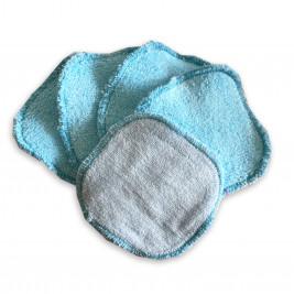 Carrés démaquillants lavables Naturiou bleu x 5