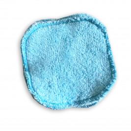 Carrés démaquillants lavables Naturiou bleu 10 x 10 cm