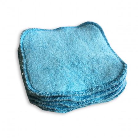 Lingettes lavables bio Naturiou bambou bleu