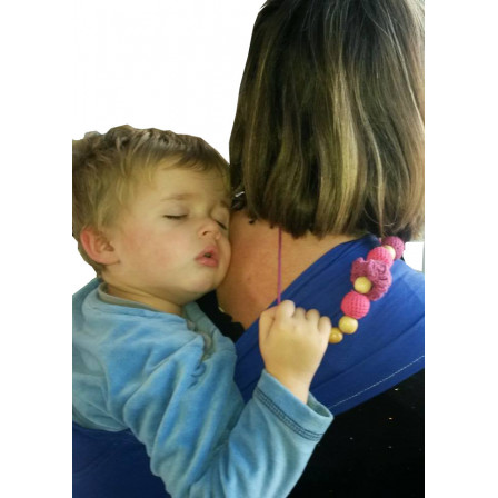 Necklace babywearing and breastfeeding bio Physiocarrier Elephant pocket'azur +