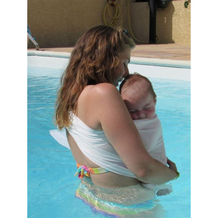 porte-bébé d'été Sukkiri Sling Blanc