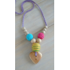 Necklace babywearing and breastfeeding organic Rainbow