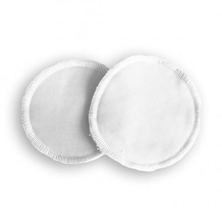 Coussinets d'allaitement lavables bambou Naturiou blanc