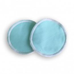 Coussinets d'allaitement lavables bambou Naturiou bleu