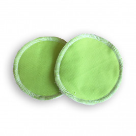 Nursing pads washable bamboo Naturiou green