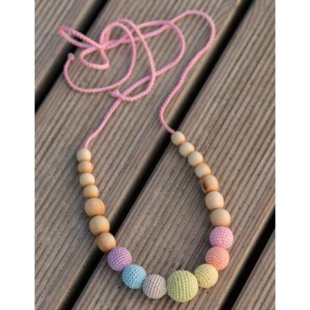 Neutral Simple Rainbow Necklace, Juniper Wood Kangaroocare