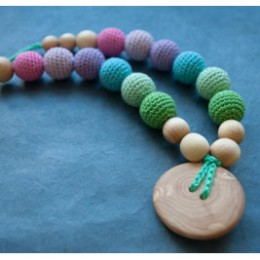 Double Berry Rainbow Necklace, Juniper Wood Kangaroocare