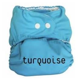 Couche lavable P'tits Dessous So Easy sans insert Turquoise