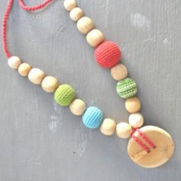 Necklace babywearing and breastfeeding Kangaroocare Kangaroo with Beads Limited Series Naturiou