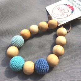 Anneau de dentition Bracelet 3 bleus Kangaroocare