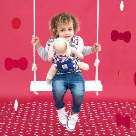Ergobaby Porte-Poupée Hello Kitty Bleu Classic