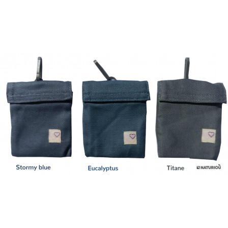 Storage pouch baby carrier titanium LLA