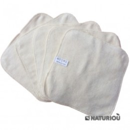 Wipes Washable Organic Cotton P'tits Dessous pack of 5