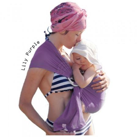 Watersling Mam, sling  violet Lily purple