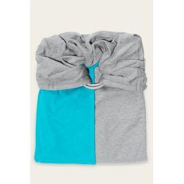 La Petite Echarpe Sans Noeud- turquoise, gris chiné