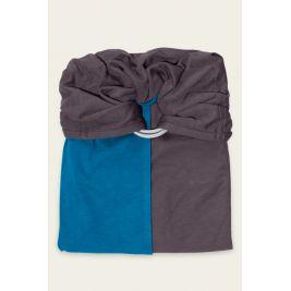 La Petite Echarpe sans noeud reversible Bleu Canard Marron glacé JPMBB