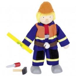 Poupée flexible Goki - ouvrier du bâtiment