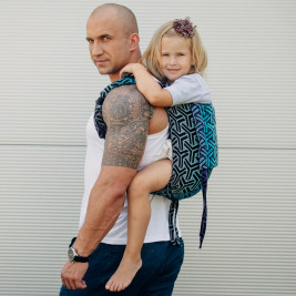 Onbuhimo Toddler Lennylamb jacquard TRINITY COSMOS