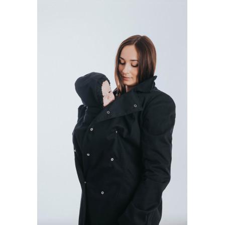 Babywearing trench coat - Black