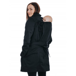 Babywearing trench coat - Black