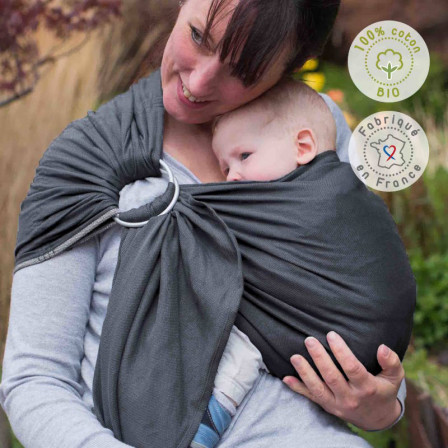 Néobulle Sling Anthracite organic cotton