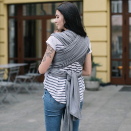 Love And Carry Stretchy Baby Wrap Graphite