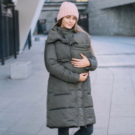 Love And Carry Coat Babywearing 3-In-1 Olive