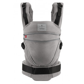 Manduca XT Bellybutton SoftCheck Grey baby carrier with adjustable
