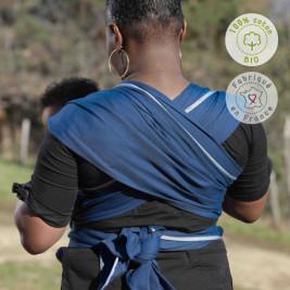 Néobulle écharpe de portage Bleu Fregate coton bio