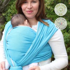 Néobulle Écharpe de Portage Bleu Denim coton bio