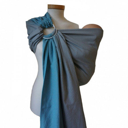 Storchenwiege RingSling Leo Turquoise/Grey