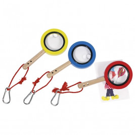 Goki Magnifying glass With Carabiner - wooden toys