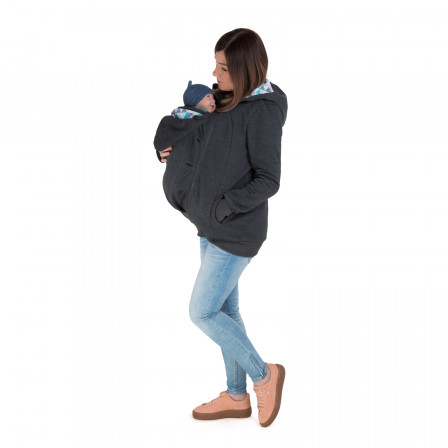 Naturiou sweat de portage et de grossesse Graphite Geo Blue