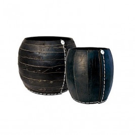 Basket right to handles tyre recycled Tadé