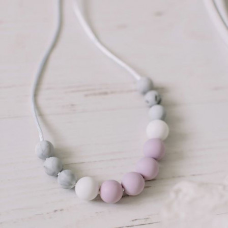 Love And Carry Amethyst Collier de portage en silicone alimentaire
