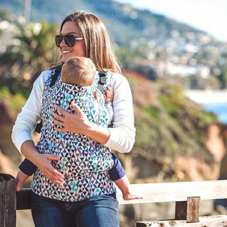 Beco Toddler Geo Teal Blue - baby carrier