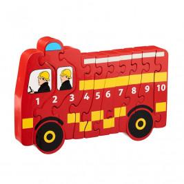 Puzzle Camion de Pompier 1-10 en bois Lanka Kade