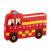 Puzzle Fire Truck 1-10 wooden Lanka Kade
