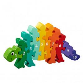 Puzzle Dinosaur 1-10 wooden Lanka Kade