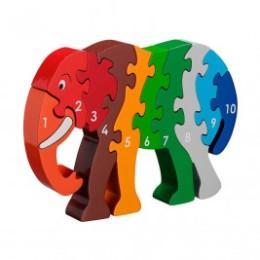 Puzzle Elephant 1-10 wooden Lanka Kade