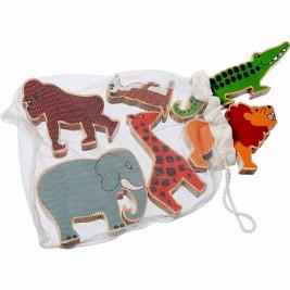 Pyramid Jungle Animals wooden Lanka Kade (bag of 6)