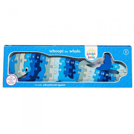 Puzzle Baleine 1-25 en bois Lanka Kade