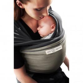 The original JPMBB Baby Wrap Charcoal Grey, pocket Olive