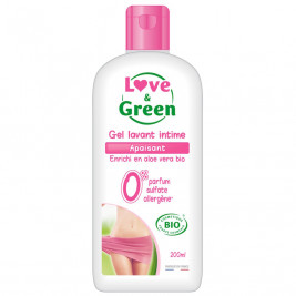 Love and Green Gel Lavant Intime Apaisant Bio