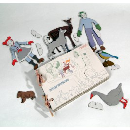 Book of characters made from recycled cardboard