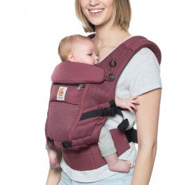 Ergobaby Adapt Cool Air Mesh Bordeaux - Door-baby-Scalable