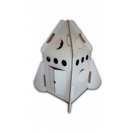 fusée cabane en carton