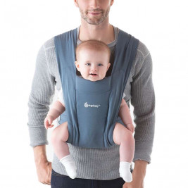 Ergobaby Embrace Blue - Grey Door-New born baby