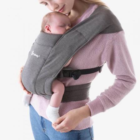 Ergobaby Embrace Gris Souris - Porte-bébé Nouveau-né
